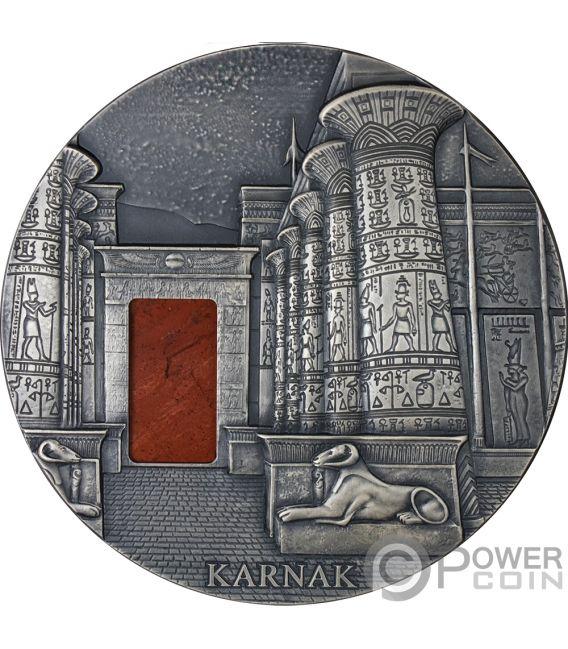 KARNAK Egyptian Temple Jasper 1 Kg Kilo Silver Coin 10000 Francs Chad 2018