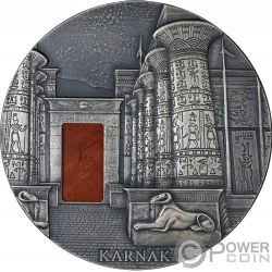 KARNAK Egyptian Temple Jasper 1 Kg Kilo Серебро Монета 10000 Франков Чад 2018