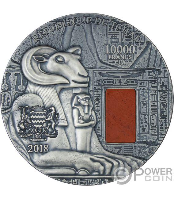 KARNAK Egyptian Temple Jaspis 1 Kg Kilo Silber Münze 10000 Franken Chad 2018