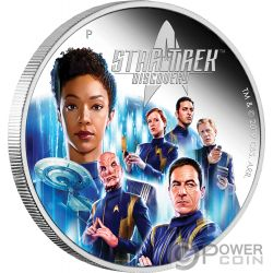 DISCOVERY CREW The Original Series 2 Oz Moneda Plata 2$ Tuvalu 2019