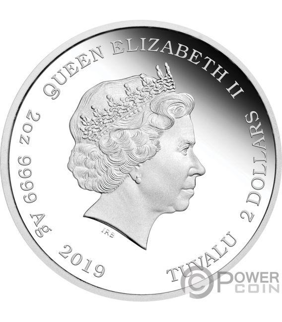 DISCOVERY CREW The Original Series 2 Oz Silver Coin 2$ Tuvalu 2019