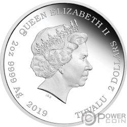 DISCOVERY CREW The Original Series 2 Oz Серебро Монета 2$ Тувалу 2019