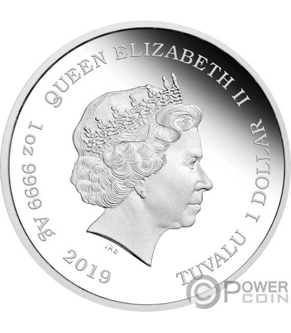 BARBIE 60th Anniversary 1 Oz Silver Coin 1$ Tuvalu 2019