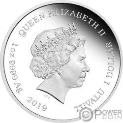 BARBIE 60 Aniversario 1 Oz Moneda Plata 1$ Tuvalu 2019