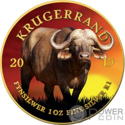 BUFFALO Bufalo Krugerrand Big Five 1 Oz Moneda Plata 1 Rand South Africa 2019