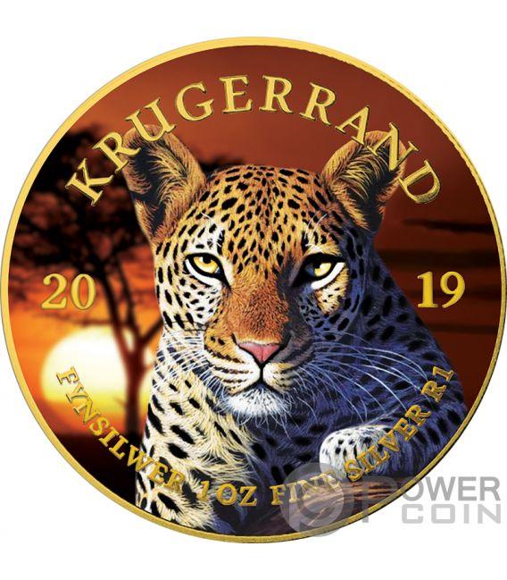 LEOPARD Leopardo Krugerrand Big Five 1 Oz Moneda Plata 1 Rand South Africa 2019