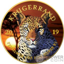 LEOPARD Leopardo Krugerrand Big Five 1 Oz Moneda Plata 1 Rand South Africa 2019
