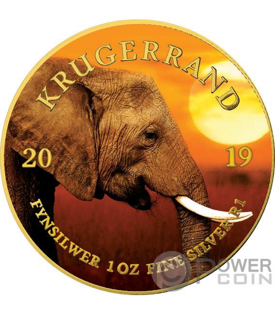 Elephant Krugerrand Big Five 1 Oz Silver Coin 1 Rand South