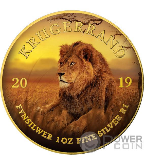 LION Krugerrand Big Five 1 Oz Silver Coin 1 Rand South Africa 2019