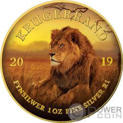 LION Leon Krugerrand Big Five 1 Oz Moneda Plata 1 Rand South Africa 2019