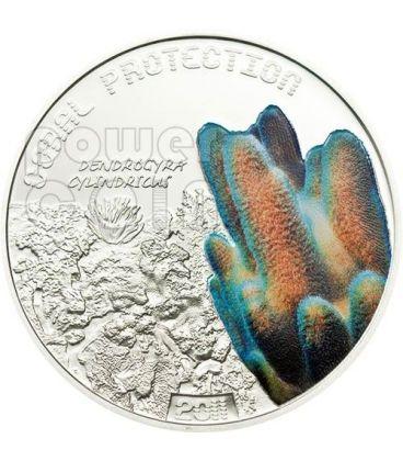 CORALLO PILASTRO Coral Protection Moneta Argento 1$ Tuvalu 2011