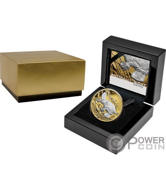 PLATYPUS Australia at Night 1 Oz Gold Coin 100$ Niue 2019