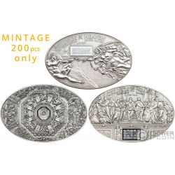 CEILINGS OF HEAVEN Set 3 Monedas Plata 5$ Cook Islands 2012 2013 2014