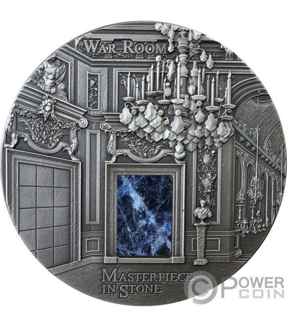 WAR ROOM Versailles Masterpieces In Stone 3 Oz Silver Coin 10$ Fiji 2018