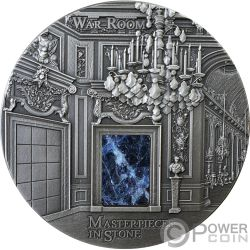 WAR ROOM Palacio Versailles Masterpieces In Stone 3 Oz Moneda Plata 10$ Fiji 2018