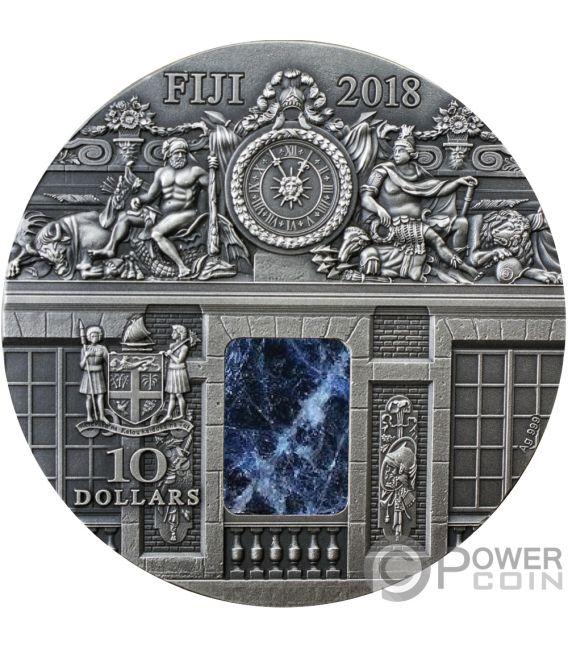 WAR ROOM Schloss Versailles Masterpieces In Stone 3 Oz Silber Münze 10$ Fiji 2018