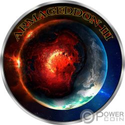 GRIM REAPER Morte Maple Leaf Armageddon III 1 Oz Moneta Argento 5$ Canada 2018