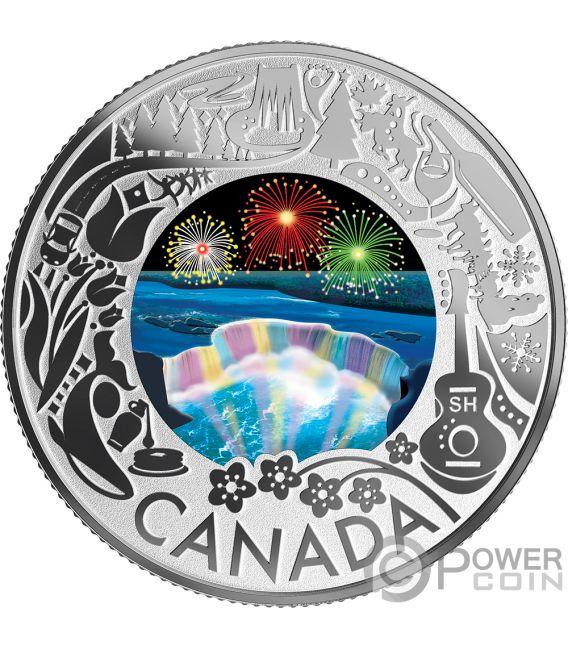 NIAGARA FALLS Fun and Festivities Silver Coin 3$ Canada 2019