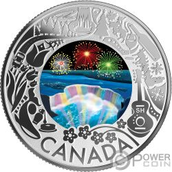 NIAGARA FALLS Cataratas Fun and Festivities Moneda Plata 3$ Canada 2019