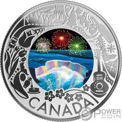 NIAGARA FALLS Niagarafälle Fun and Festivities Silber Münze 3$ Canada 2019