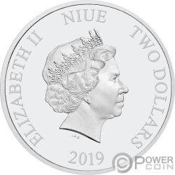 MINNIE MOUSE Friends Carnival Disney 1 Oz Silber Münze 2$ Niue 2019