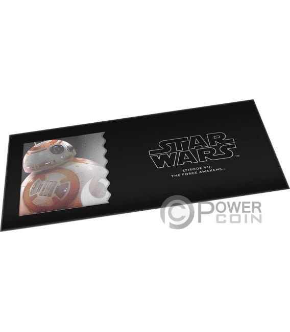 BB8 Star Wars Force Awakens Foil Silver Note 1$ Niue 2019