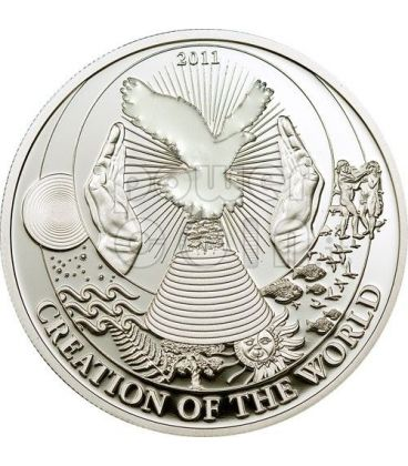 CREATION OF THE WORLD Biblical Stories Silver Coin 2$ Palau 2011