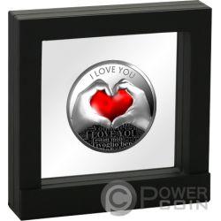 LOVE YOU Heart Серебро Монета 500 Франков Камерун 2019