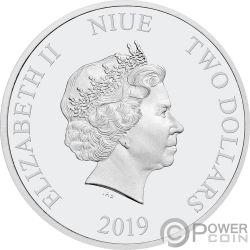 SLEEPING BEAUTY 60th Anniversary Disney 1 Oz Серебро Монета 2$ Ниуэ 2019