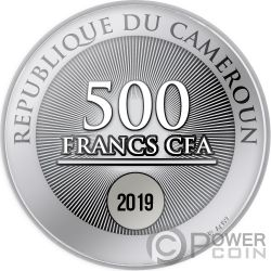 TREE OF LIFE Albero Vita Moneta Argento 500 Franchi Cameroon 2019