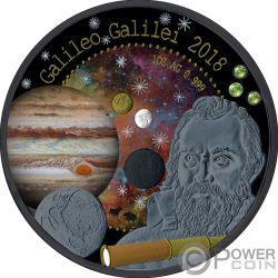 GALILEO GALILEI Pallamant Treasures Universe 1 Oz Moneda Plata 5 Cedis Ghana 2018