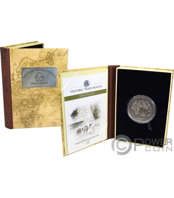 SPICE ROAD Historic Trade Routes 5 Oz Silver Coin 5000 Francs Cameroon 2019
