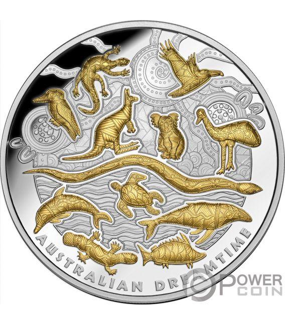 AUSTRALIAN DREAMTIME 5 Oz Silver Coin 10$ Niue 2019