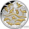 AUSTRALIAN DREAMTIME Siempo Sueno 5 Oz Moneda Plata 10$ Niue 2019