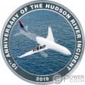 MIRACLE ON THE HUDSON Sully 10th Anniversary Серебро Монета 1$ Острова Кука 2019