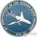 MIRACLE ON THE HUDSON Sully Wunder 10 Jahrestag Silber Münze 1$ Cook Islands 2019