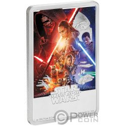 STAR WARS Despertar Fuerza 1 Oz Moneda Plata 2$ Niue 2019