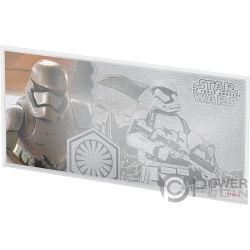 STORMTROOPER Star Wars Force Awakens Foil Silver Note 1$ Niue 2019