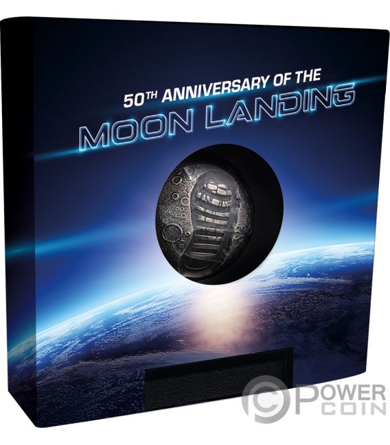Moon Landing 50th Anniversary 1 Oz Silver Coin 5 Barbados