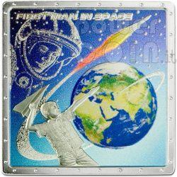 GAGARIN YURI First Space Traveller Silver Coin 1$ Cook Islands 2011