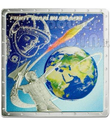 GAGARIN YURI First Space Traveller Silver Coin 1$ Cook Islands 2011