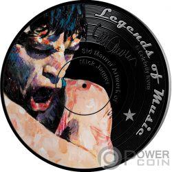 MICK JAGGER Legends of Music Sid Maurer 1 Oz Silver Coin 5$ Solomon Islands 2018