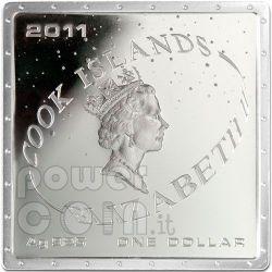GAGARIN YURI First Space Traveller Moneda Plata 1$ Cook Islands 2011