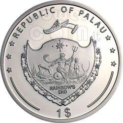 BARN SWALLOW Pacific Wildlife Монета Prism 5$ Палау 2009