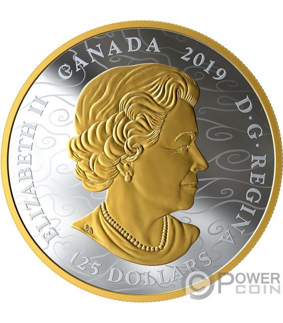 BENEVOLENT DRAGON 1/2 Kg Kilo Серебро Монета 125$ Канада 2019