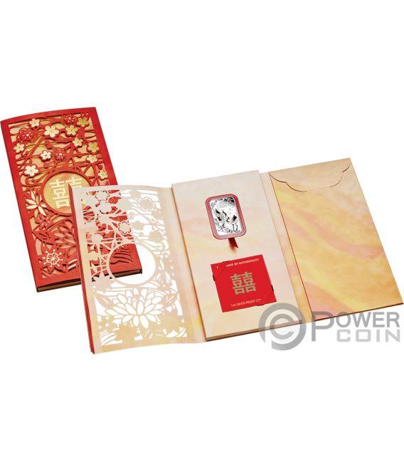 CHINESE WEDDING Matrimonio Cinese Gru 1 Oz Moneta Argento 1$ Tuvalu 2019