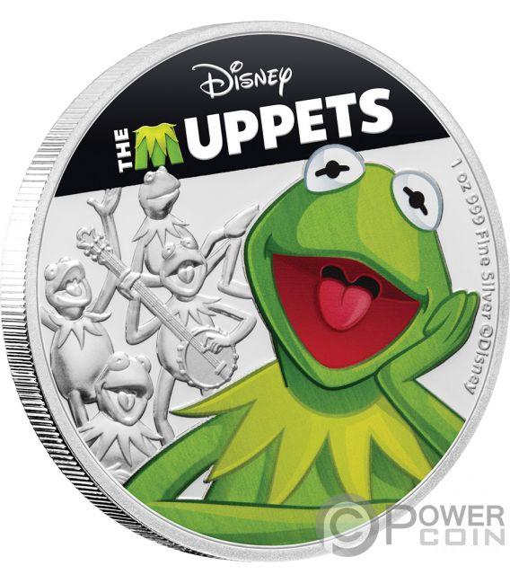 KERMIT Rana Muppets Disney 1 Oz Moneta Argento 2$ Niue 2019