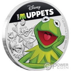 KERMIT Frog Muppets Disney 1 Oz Silver Coin 2$ Niue 2019