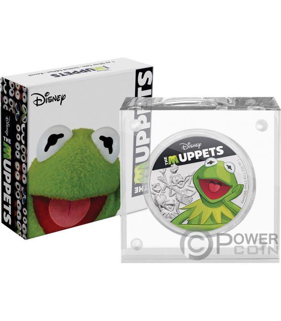 KERMIT Frog Muppets Disney 1 Oz Silver Coin 2$ Niue 2019