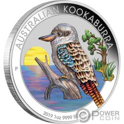 KOOKABURRA Colorata World Money Fair WMF 1 Oz Moneta Argento 1$ Australia 2019